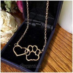 Jewelry - 🐾HOT SELLING PAWS 18CT GOLD PL HEARTS LINKED